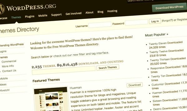 WordPress公式テーマディレクトリ
