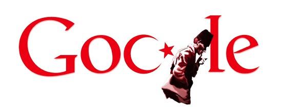 2010 年トルコ建国記念日 - Doodle