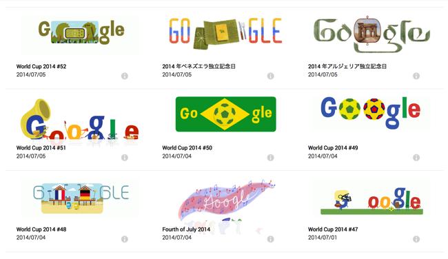 Google記念日ロゴのアーカイブ「Doodle」