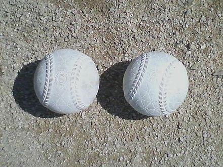 440px Rubber baseball 2006