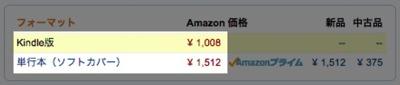 書籍購入はKindleがお得
